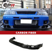 Carbon Glossy Front Bumper Lip Accessories For Nissan R33 Skyline Gtr As Style