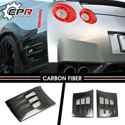 For Nissan R35 Gtr Ts Style 2pcs Carbon Rear Fender Bumper Addon Air Duct