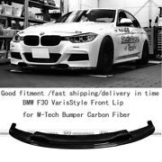 New Front Lip Wing Parts For M-tech Bumper For Bmw F30 Vs Style Carbon Fiber