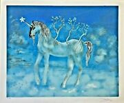 Dali Salvador Cheval Allegre Unicorn Hand Signed And Numbered 130/300
