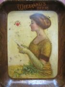 Wielandand039s Beer Antique Advertising Serving Tray American Art Works Coshocton O