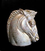 Vintage Stangl Art Pottery Antique Gold Horse Head Vase Free Shipping