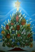 2004 Thomas Pacconi Classics Wooden Advent Calendar With 24 Christmas Ornaments