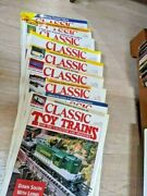 Classic Toy Trains Vintage Magazines From 1994 1995 1996 Lot Of 9 Back Issues