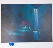 James Coleman Night Fragrance Hand Signed Lithograph 21 / 275 Tropical Waterfall
