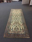 Sale Antique Hand Knotted Hamedan Vintage Area Rug Runner Floral 3andrsquox8andrsquo10andrdquo26310
