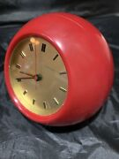 Secticon Clock By Angelo Mangiarotti 1956 Model T2 Color Rosso / Red