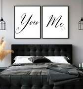 You And Me Multi Set Typography Wall Art