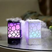 Water Cube Ultrasonic Air Humidifier Aroma Diffuser Steam Maker Led Light Home