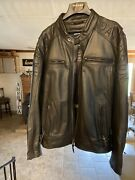 Harley Davidson Leather Jacket Mens 2xl Riding Gear Black Iron And Pride