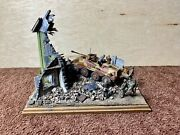Pro Built 1/35 Plastic Model Kit Tank Diorama Destroyed Building And Rubble