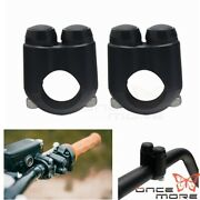 Pair Motocycle Microswitch Control Momentary Switch Black For 7/8 Handlebar