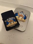 Camel Zippo Pleasure To Burn Navy Z589 Only 200 Made In 2000 Sealed
