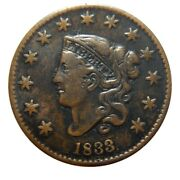 Large Cent/penny 1833 Newcomb 3 Nice Xf Details