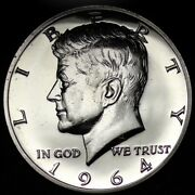 1964 Accented Hair Kennedy Half Dollar Gem Proof Free Shipping E351 T