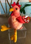 Doodle Strut Rooster Ty Beanie Baby 1999 Mint Condition Rare Errors Star Tag