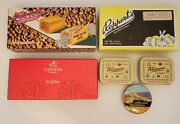 6 Lot Vintage 3 Candy Box 3 Tins Chocolates Peanut Butter Chews French Licorice