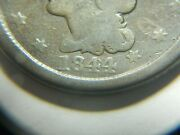 Large Cent/penny 1844, 44 Over 81 Overdate Clear Feature