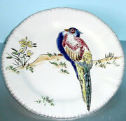 Gien Grands Oiseaux Pheasant Dessert Plate 9 Lady Amherst Hand Painted New