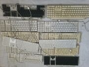 Apple Computer Keyboard Lot Of 12 Bundle Wired For Parts