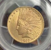 1911 Gold 10 Indian Pcgs Ms63