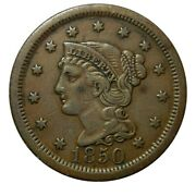 Large Cent/penny 1850 Higher Grade Original Collector Coin