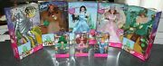 1999 Barbie Ken Wizard Of Oz 5 Dolls And Kelly And Tommy 3 Munchkins Lot Nrfb