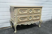 French Pickled White Wash Commode Small Dresser Large End Table By Drexel 1409