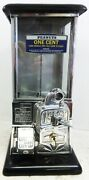 Masters Stainless Steel Penny Operated Candy/peanut Machine Circa 1930's