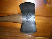Rare Vintage Embossed Double Bit Axe Tenks Clipper Quincy, Il