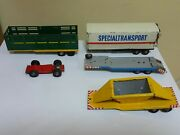 Vintage Special Transport Set Trailers Tin Toy Msb Ddr Gdr German 60and039s For Parts