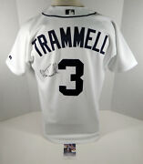 2004 Detroit Tigers Alan Trammell 3 Game Issued Pos Used White Jersey Auto Jsa