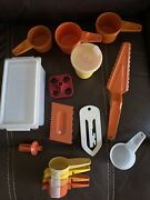 Mixed Lot Of 15 Vintage Tupperware Kitchen Tools Gadgets Measuring Spoons