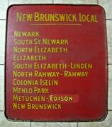 New Brunswick Local Old Train Railroad Station Sign Newark To Nb New Jersey Rr