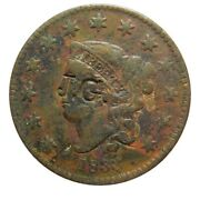 Large Cent/penny Counterstamped 1833 Newcomb 3 Host