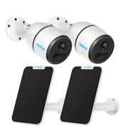 2set Wirefree 4g Lte Mobile Security Camera Battery Power Reolink Go+solar Panel