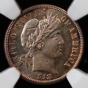 1912 Barber Dime Ngc Ms 62 Silvery White Well Struck And A Suggestion Of Contrast