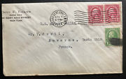 1934 New York Usa Commercial Cover To Saverne France Per Ss Albert Ballin