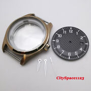 40mm Bronze Pvd Watch Case + Dial + Hands Fit Nh35a Nh36 Automatic Movement