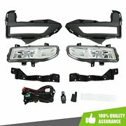 Front Bumper Fog Lights W/switch Bezel Wires For Nissan Rogue 2017-2018 S Sl Sv