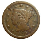 Large Cent/penny Counterstamped 1850 Circulated