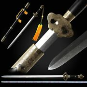 White Copper Xuanwen Sword Hand Forged Pattern Steel Collection Gift Sharp 086