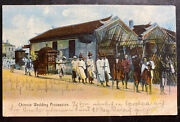 1908 Hong Kong Picture Postcard Cover To Flensburg Germany Chinese Wedding