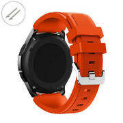 Orange Rubber Silicone Replacement Watch Band Strap Quick Release Pins 44