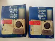 Intermatic Wh21 Mechanical Electric Water Heater Timer Switch New, Lot Of 2