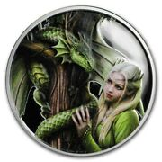 Apmex 5 Oz Silver Colorized Round Anne Stokes Dragons Kindred Spirits With Coa