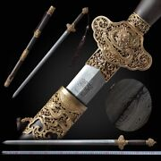 Dragon Day Sword Pattern Steel Blade Sharp Exquisite Carving Copper Fittings094