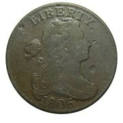 Large Cent/penny 1806 Vf Spoiled Planchet