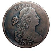 Large Cent/penny 1807/6 Sheldon 273 Overdate High Grade Collector Coin