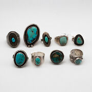 Sterling Silver Turquoise Old Pawn Estate Ring Sw15